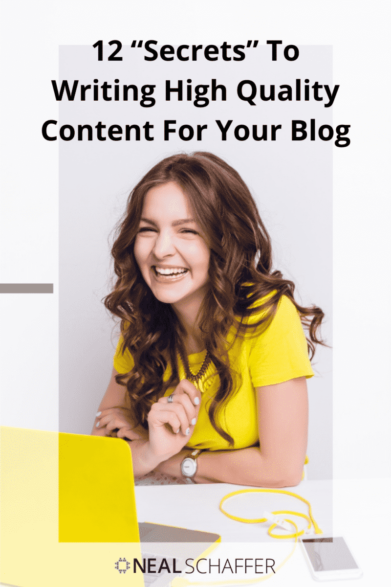 Writing high-quality content for your blog is the single most important thing you can do for search engine optimization. Here are 12 tips to...