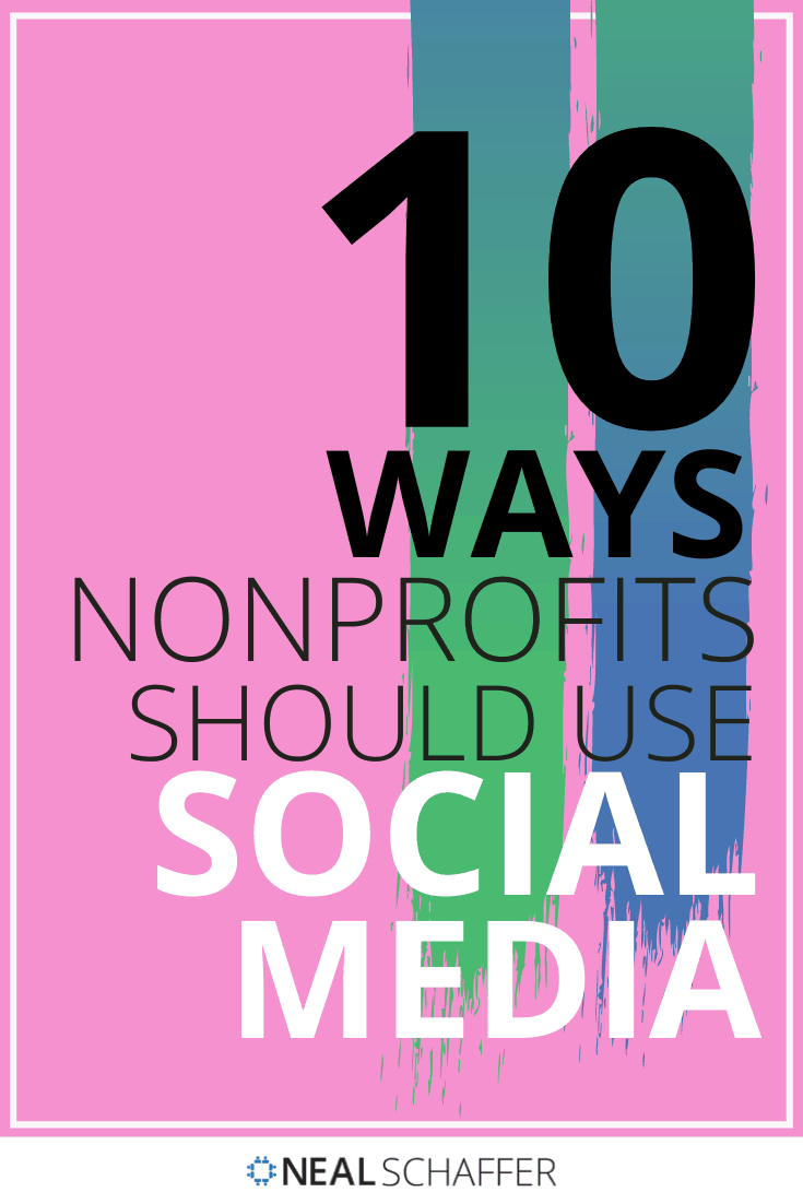 Social media marketing strategy for nonprofits beyond just Facebook. 10 different ways nonprofits can start utilizing social media. Includes infographic.