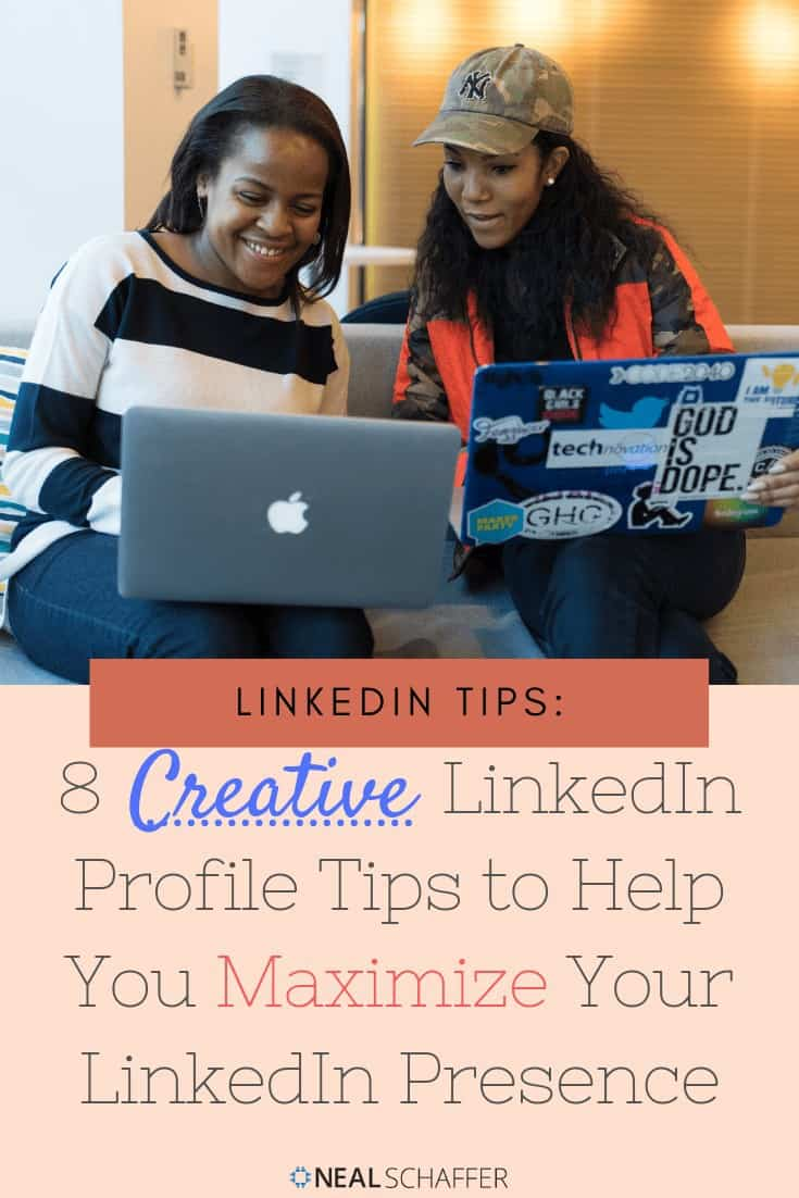 Creative LinkedIn profile tips to maximize your LinkedIn profile personal page. Tips on adding content to your professional gallery, Skills, Groups & more.