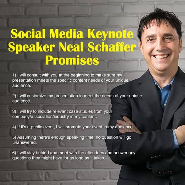social media keynote speaker neal schaffer