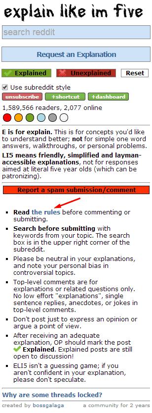 eli5 rules