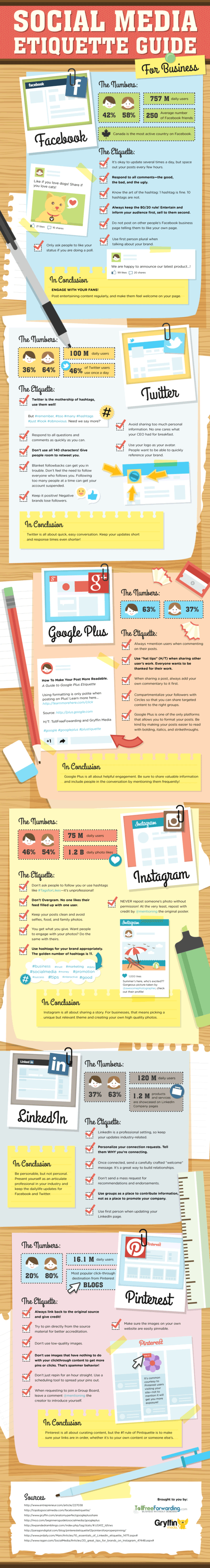 Get a more detailed look at social media do's and don'ts with this great infographic.