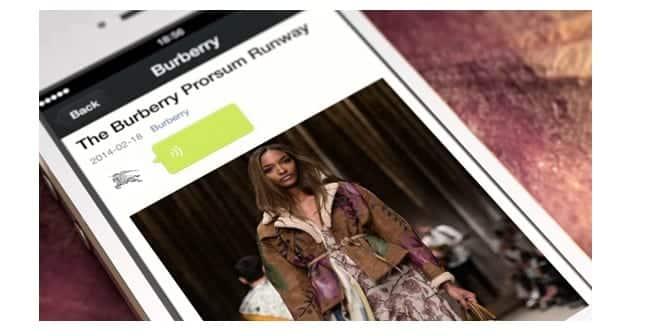 Burberry WeChat