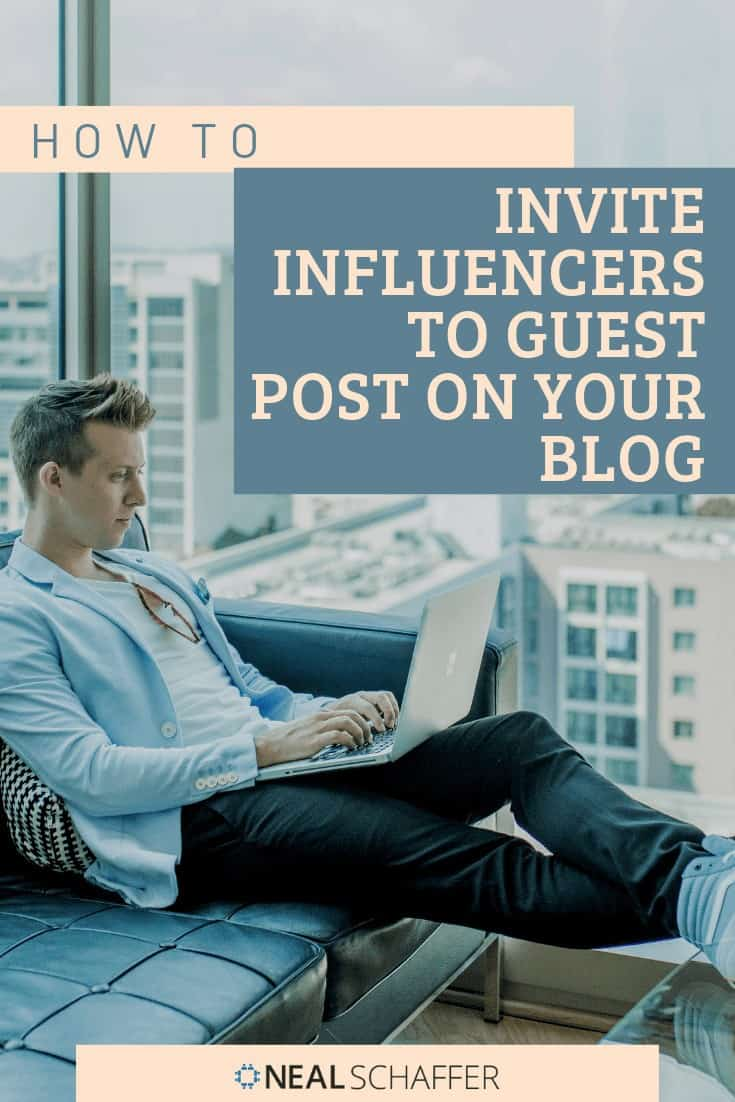 Want to make sure you post new content on a consistent basis? Invite influencers to guest post on your blog. You'll get fresh content and a wider audience.