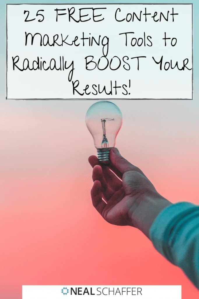 25 Free Content Marketing Tools to Radically Boost Your Results