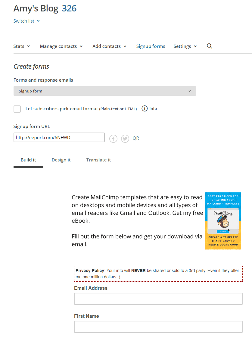How to Add Subscription Forms to Your Social Media Accounts 7