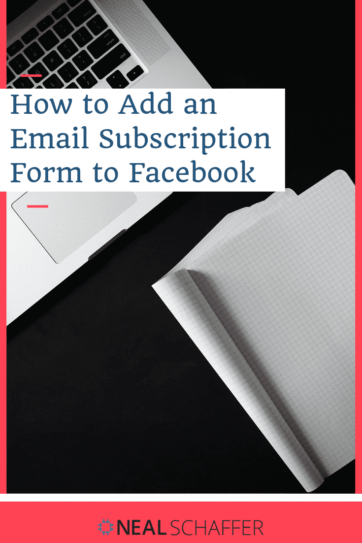 Want to add an email subscription Facebook sign up form to your Facebook accounts? Here's step by step instructions for adding a form using MailChimp.