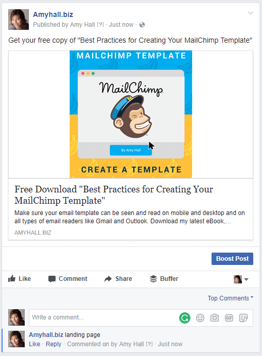How to Add an Email Subscription Facebook Sign Up Form with MailChimp