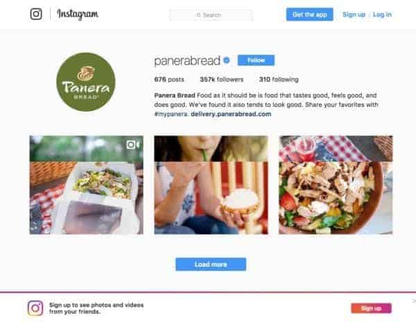 Panera Bread Instagram