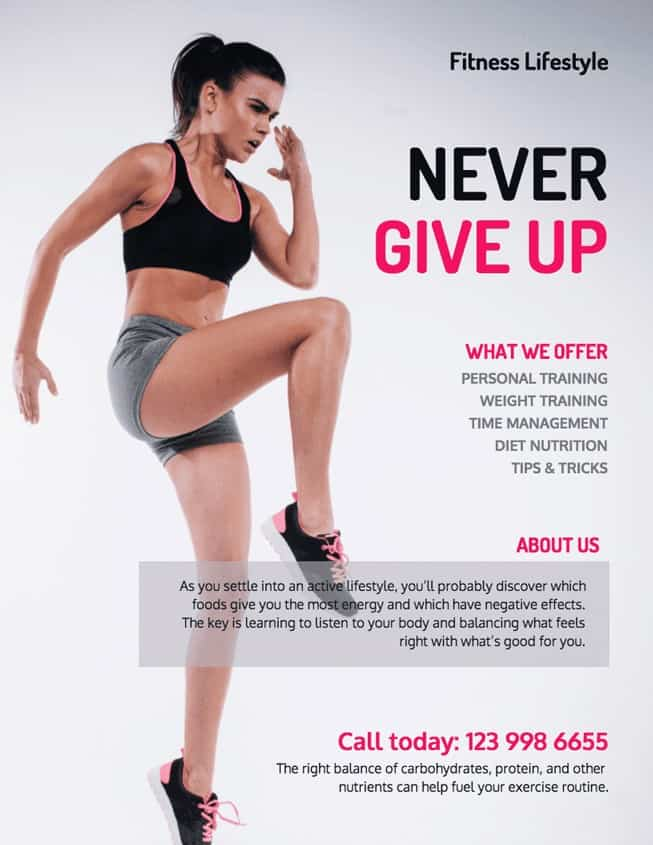 Fitness Lifestyle Never Give Up image