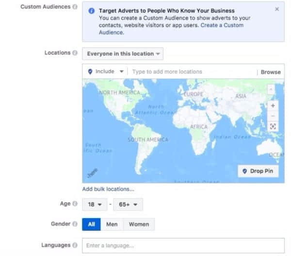 Facebook Core Target Advertising