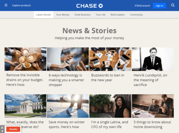 JP Morgan Chase Corporate Blog
