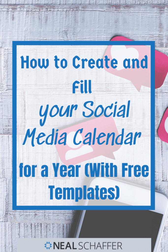 Do you want a better way to plan, organize, and publish your social media content? Discover how to create and fill your social media calendar for a year.