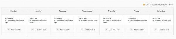 linkedin posting schedule viraltag screenshot