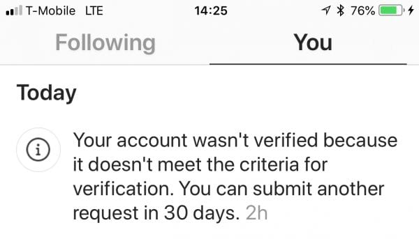 How Will You Know if You Get Rejected or Not after Applying? How to Get Verified on Instagram