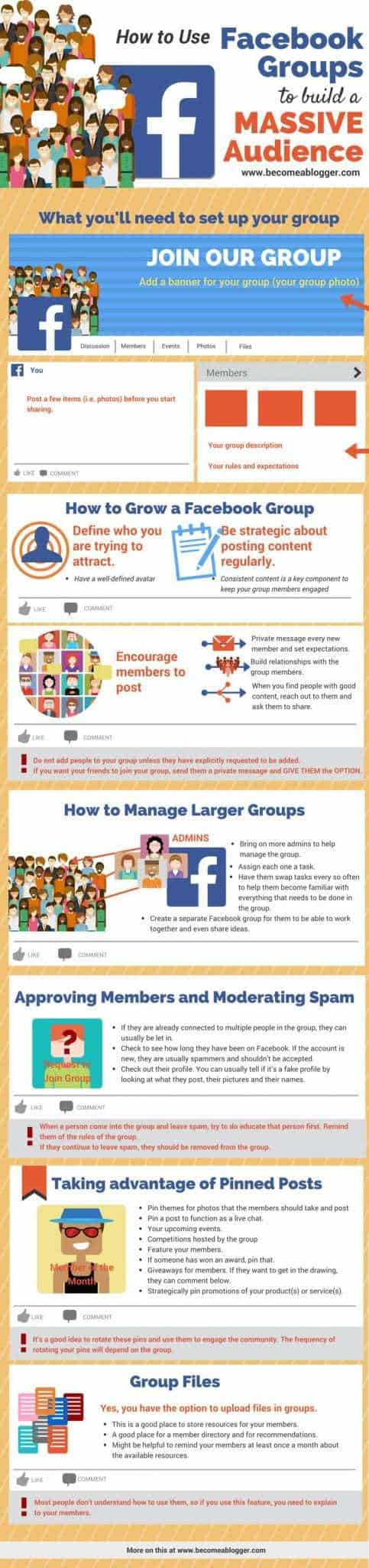 For more information, tips and a quick how-to guide on setting up your own Facebook group, check out this great infographic.