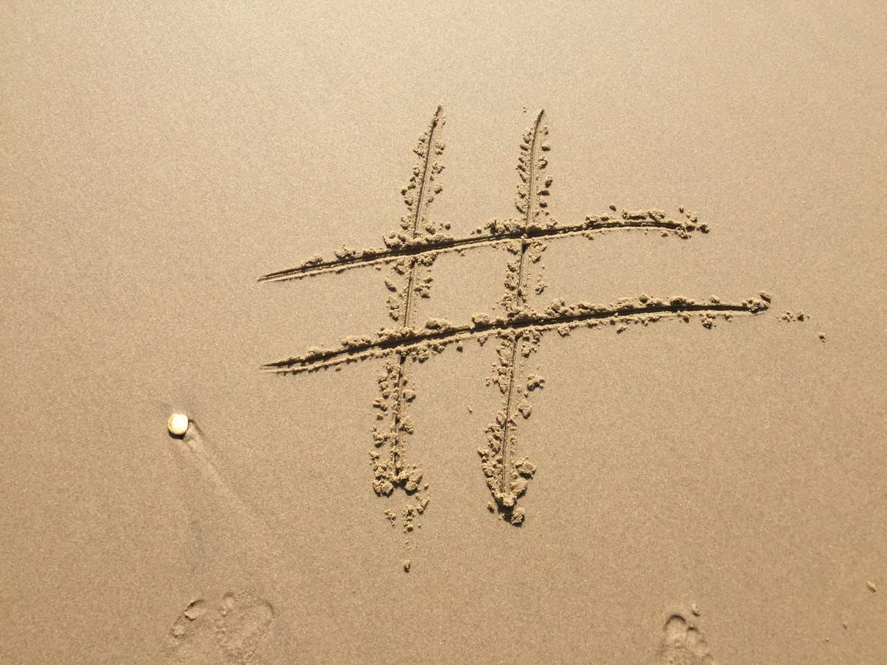 beach footprint hashtag