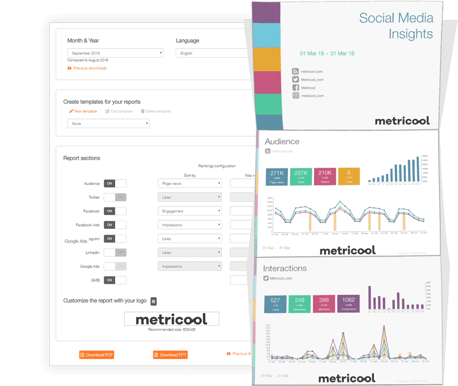 customizable social media analytics reports