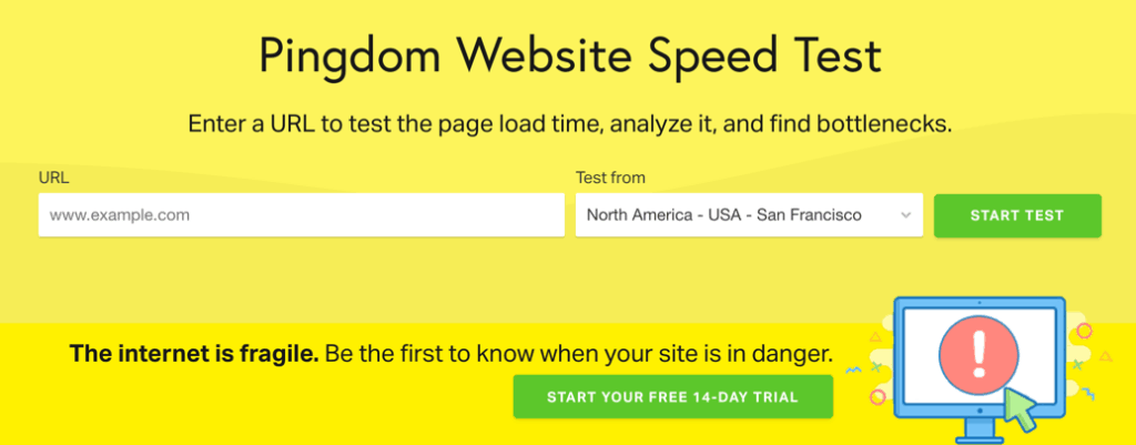 check site loading speed