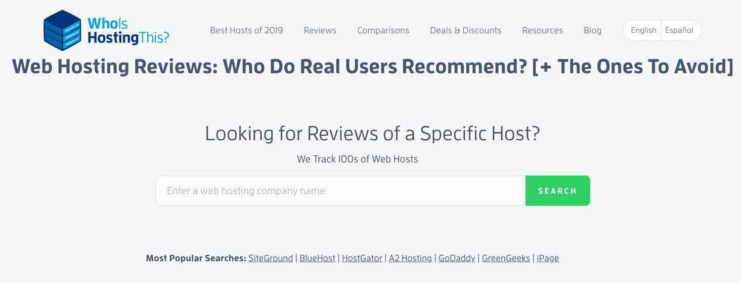 use a good hosting service