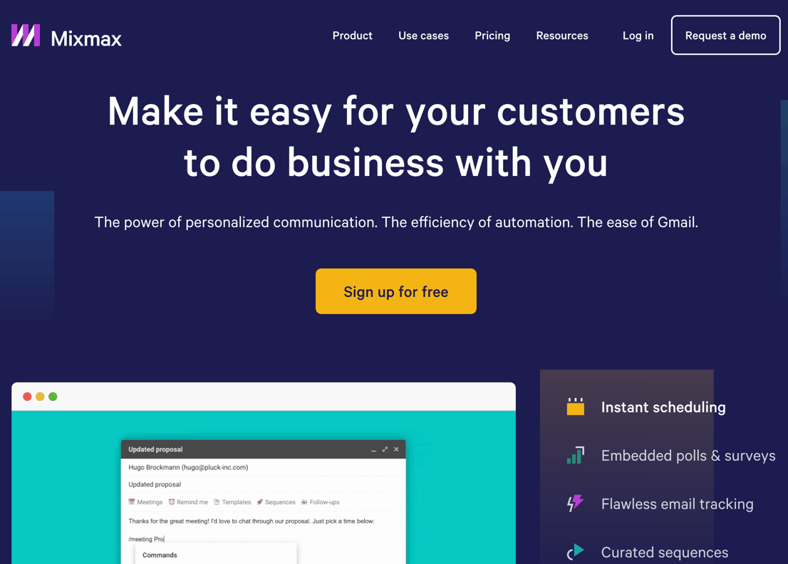 use a tool like mixmax for email outreach