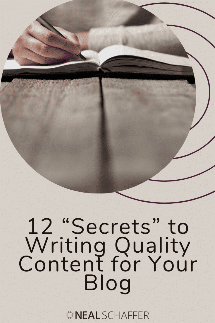 Writing quality content for your blog is the single most important thing you can do for search engine optimization. Here are 12 secrets to help you do that.