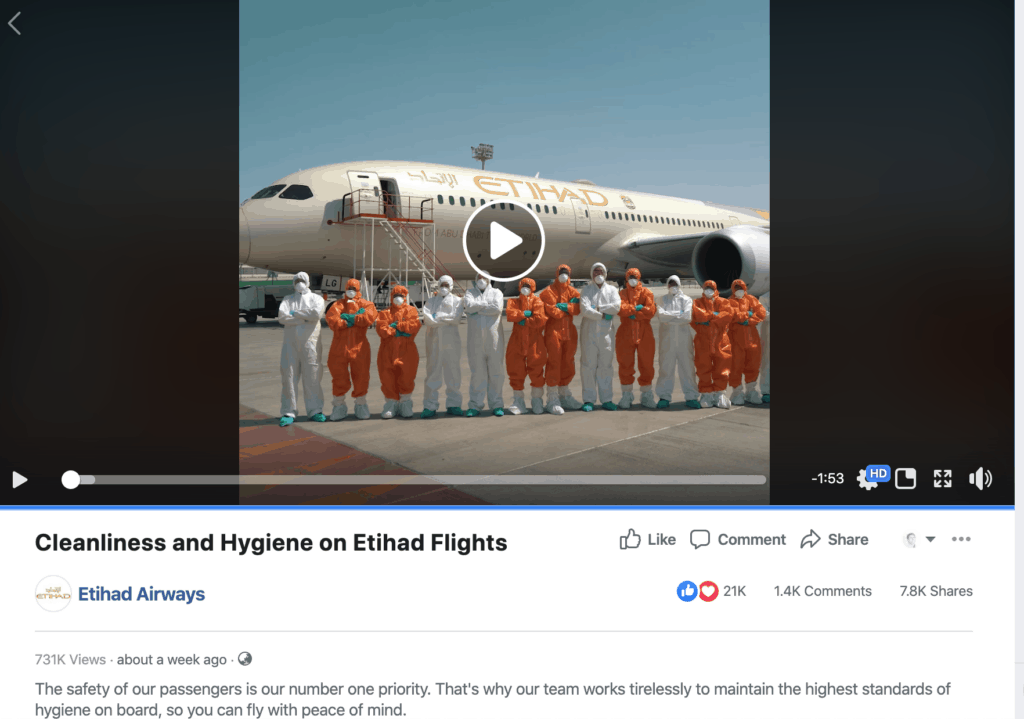 Example from Etihad Airways