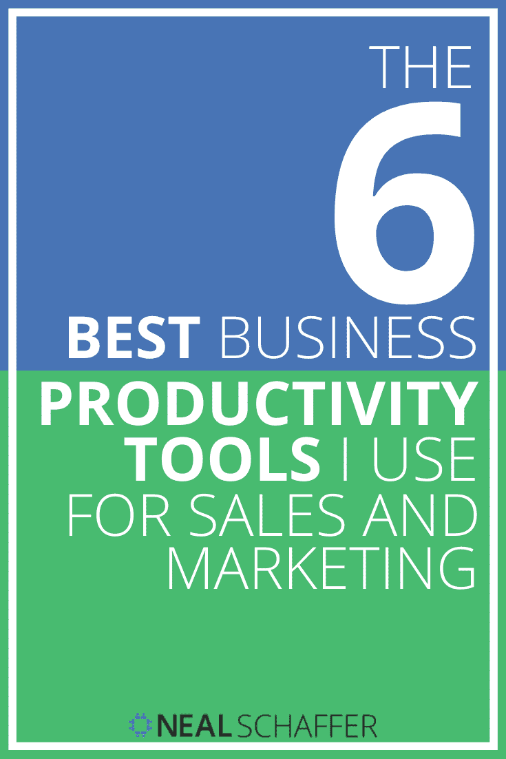 If you want to get serious about your sales and marketing efficiency, you need to make sure you are using the best business productivity tools. Here's 6.