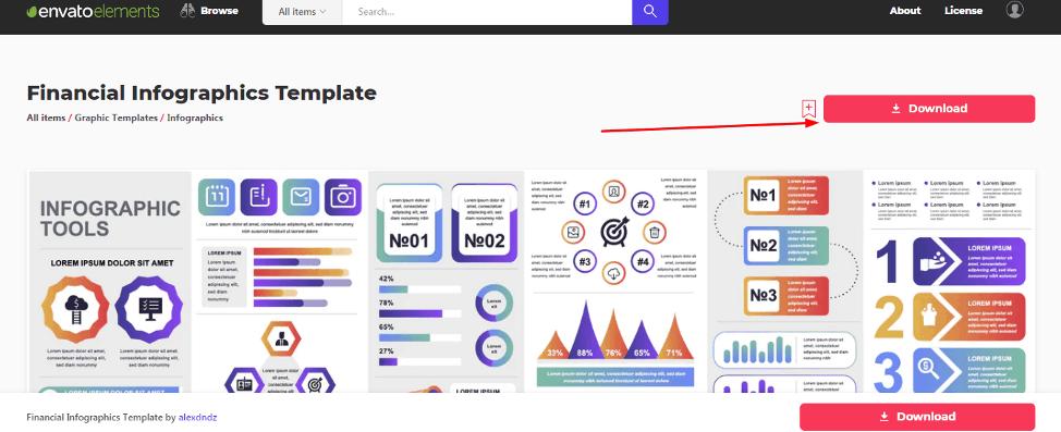 envato elements financial infographics templates