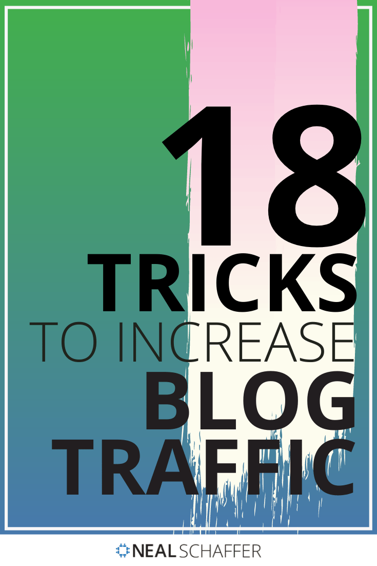 Here are 18 secrets and tricks to increase blog traffic. From content marketing to SEO to social media marketing, these tricks have you covered!