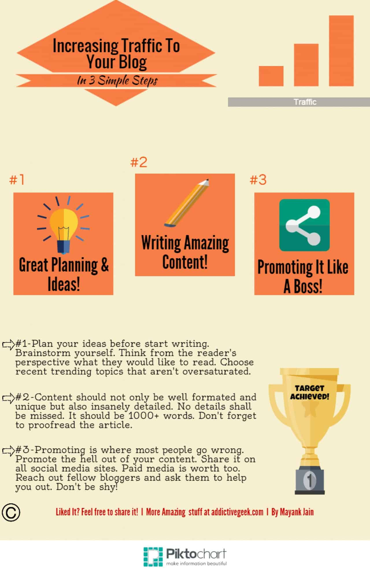 Learn more about how to increase traffic to your blog, in this great infographic!