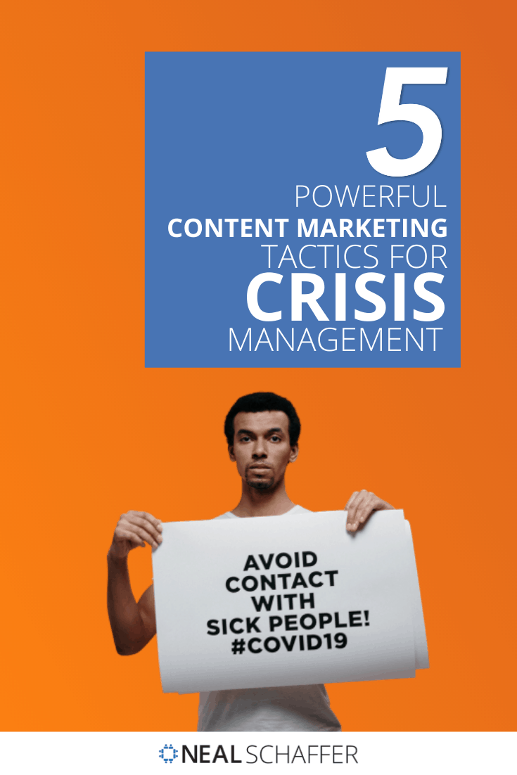 If you want to build a stronger brand through crisis management, ignore quick gains and develop a content marketing strategy geared towards helping others.