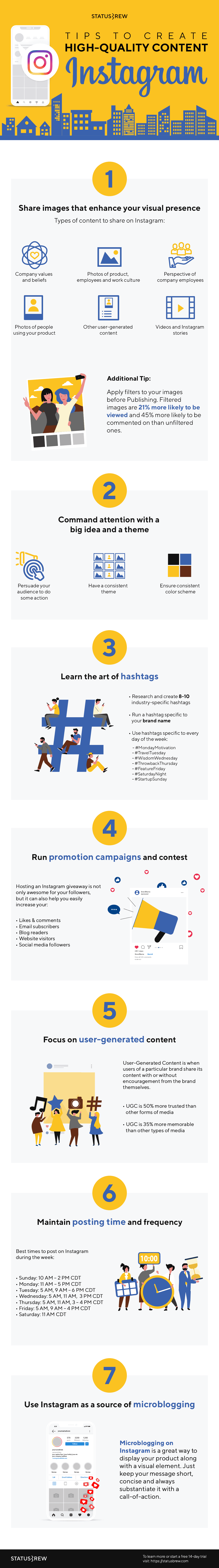 For more tips and tricks on getting your Instagram content strategy up and running, check out this great infographic!