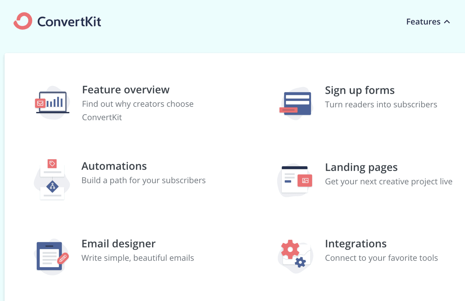 ConvertKit features