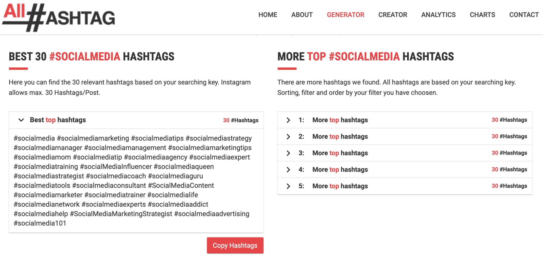 all-hashtag search for Instagram hashtags #socialmedia