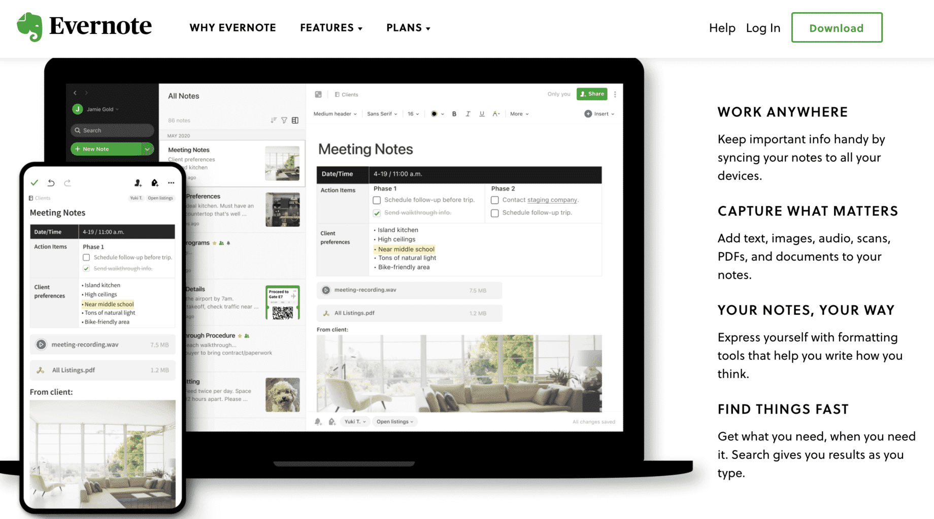 evernote blogging productivity tool