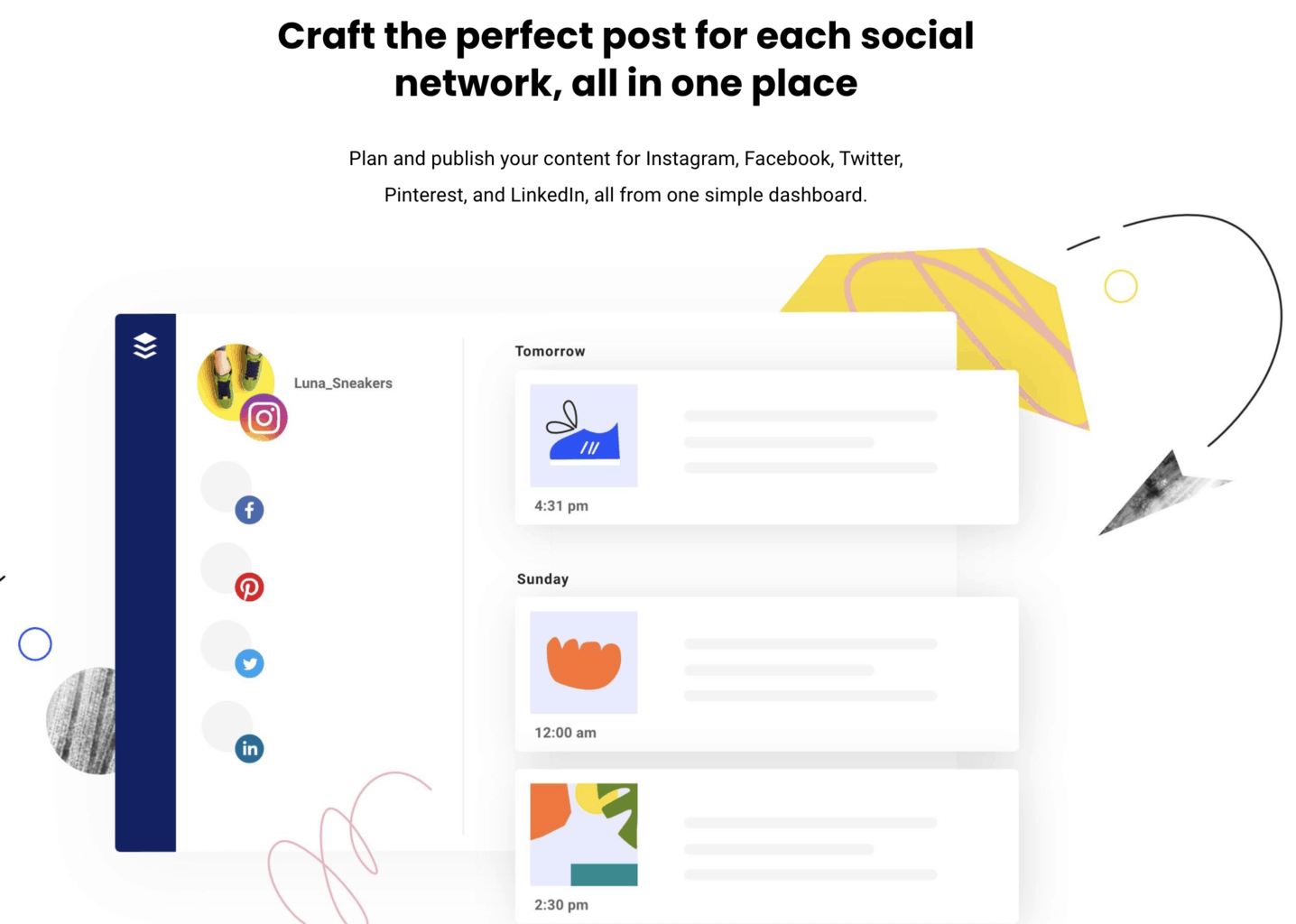 buffer social media tool features