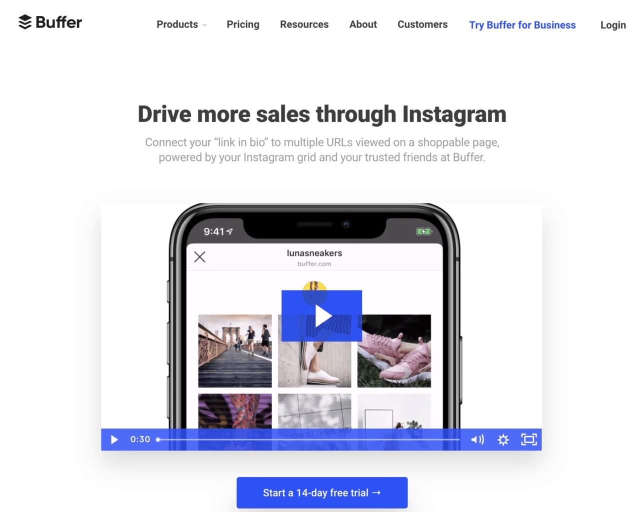 buffer instagram shop grid