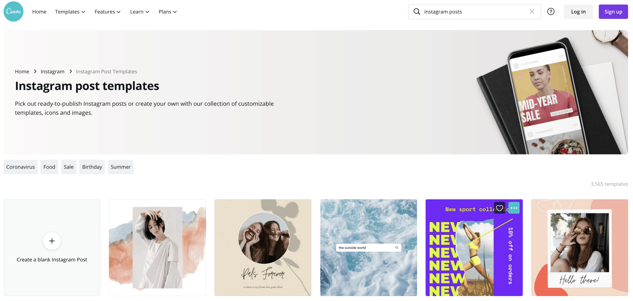 canva instagram templates