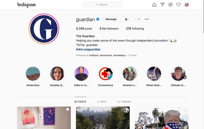 Stratégie de contenu Instagram