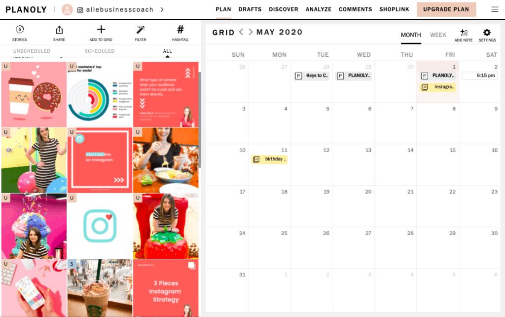 Planification de la stratégie de contenu Instagram