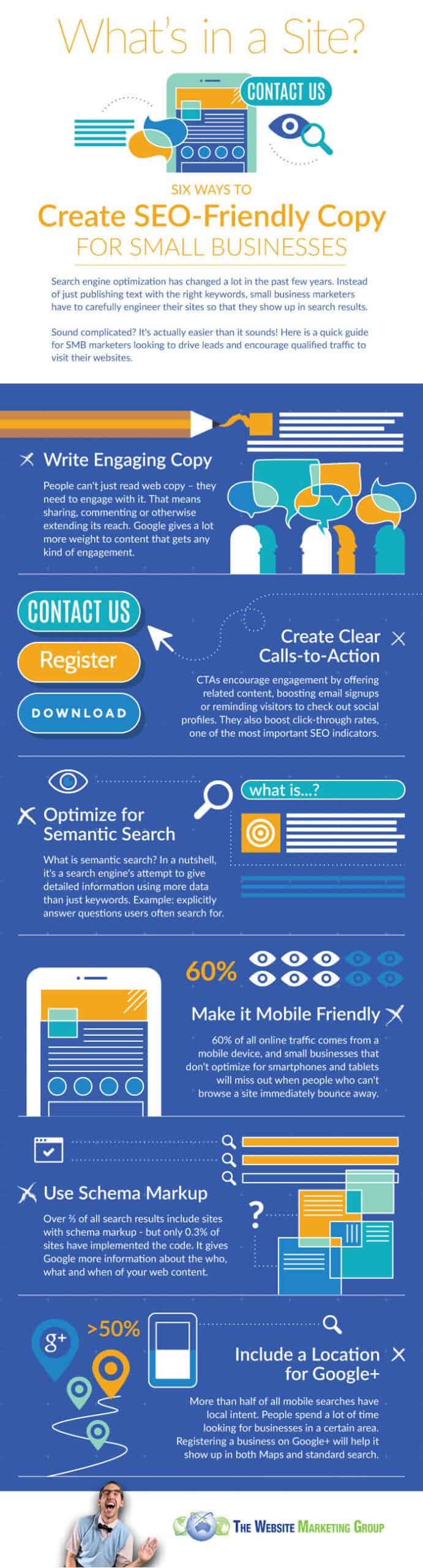 Learn these 6 great ways to create SEO-friendly copy, in the awesome infographic.