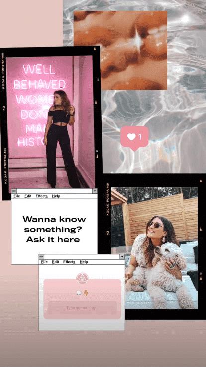 Instagram Stories question sticker example