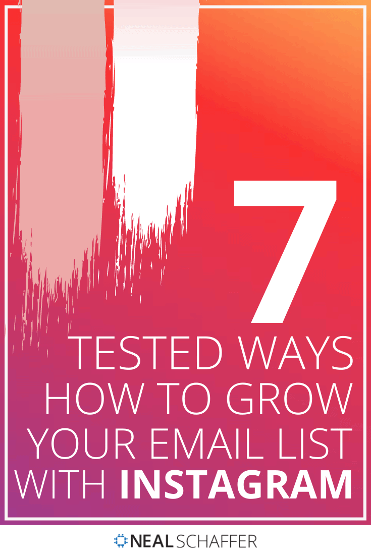 Trying to figure out how to grow your email list with Instagram? Here's 7 tested ways, including organizing an Instagram sweepstakes, making the most of ...