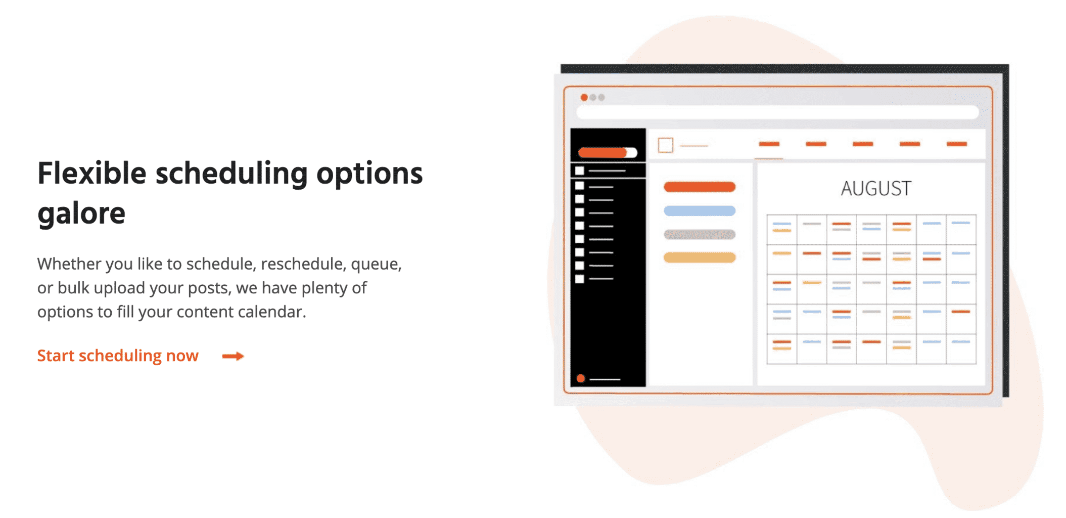 agorapulse scheduling features