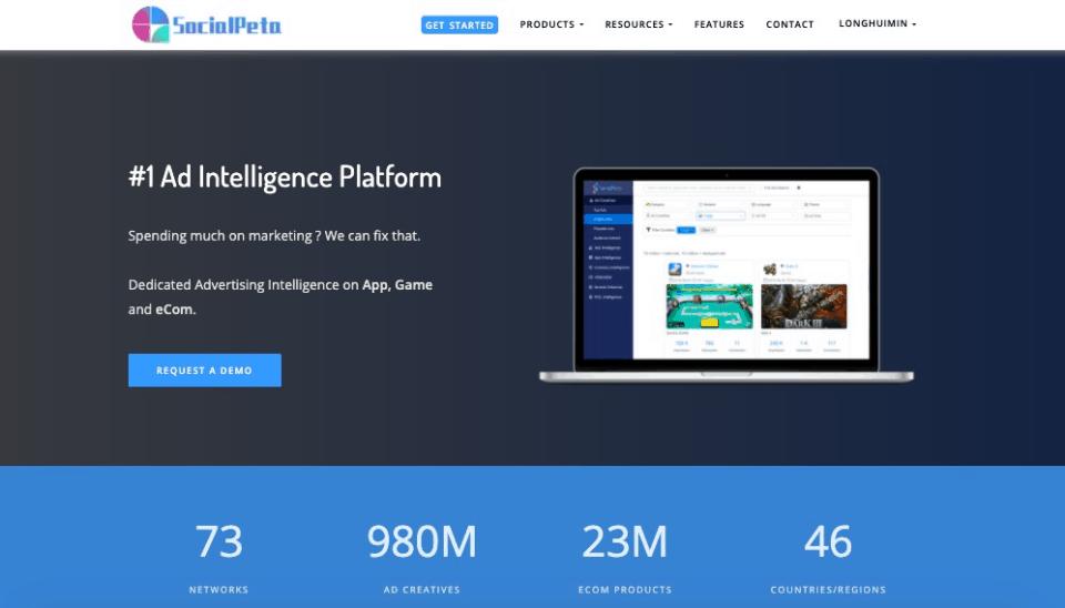 Herramientas de marketing de SocialPeta Facebook para el análisis de anuncios de Facebook y el seguimiento de la competencia