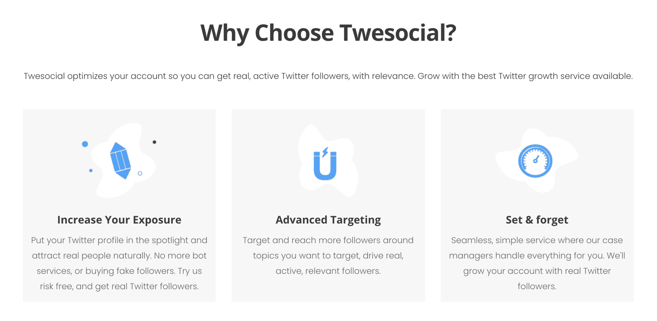 twesocial twitter growth management service