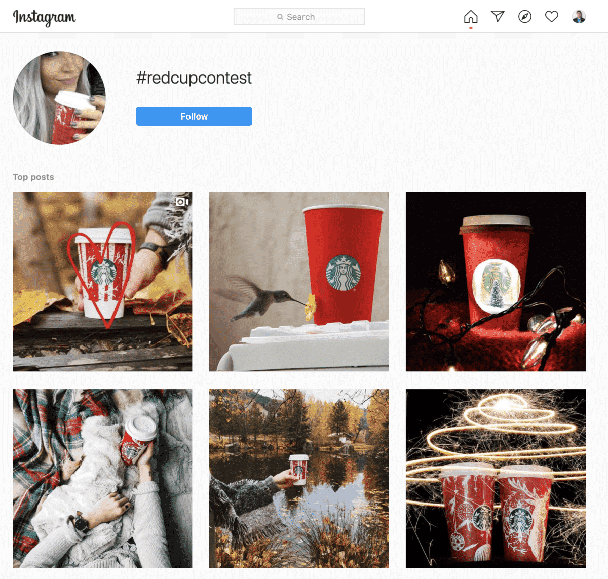 Starbucks #RedCupContest Instagram User Generated Content