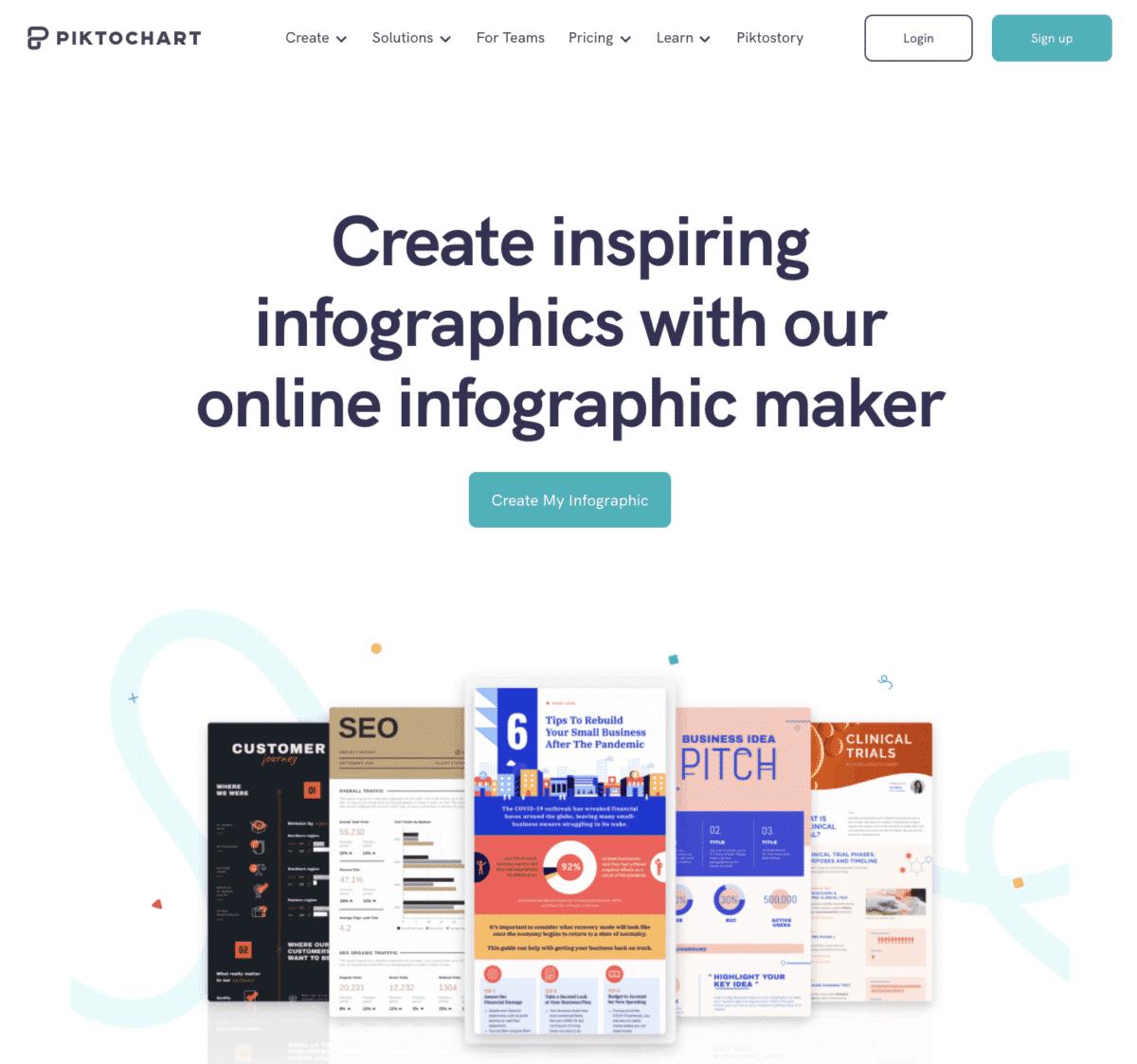 Piktochart online infographic maker