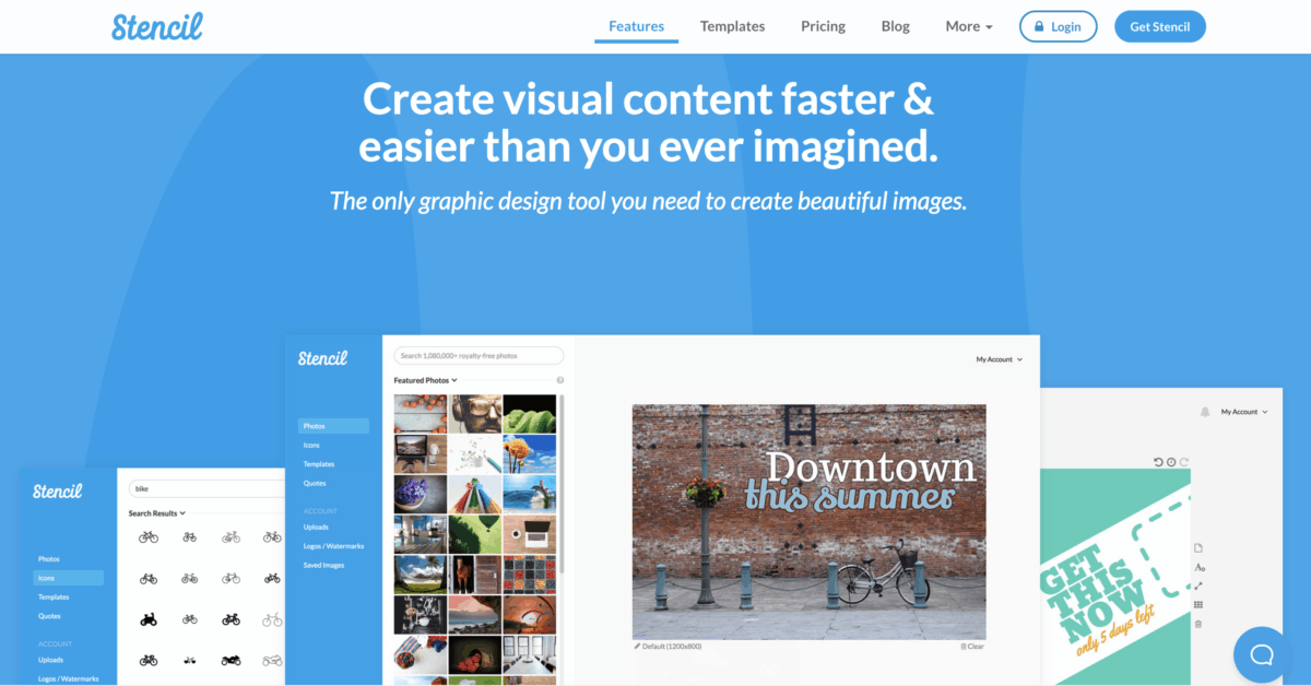 stencil visual content creation tool